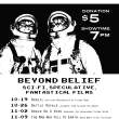 Oct-Nov Films: Beyond Belief, Thurs 7pm